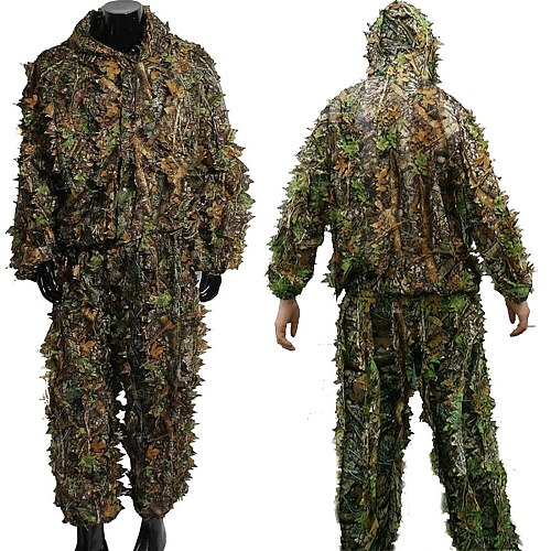 3d ghillie Hunting Secretive Woodland Ghillie Suit Aerial Shooting Sniper Green Clothes Adults Camouflage Military Jungle bionic