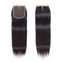 Gabrielle Brazilian Hair Straight Lace Closure Free/Middle/Three Part Natural Color 4x4 Swiss Lace Top Closure Remy Hair 8 -22