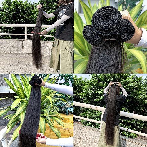 30inches Unprocessed long hair bundles Malaysian Virgin Hair Straight Human Hair Double Drawn Cuticle Aligned Hair