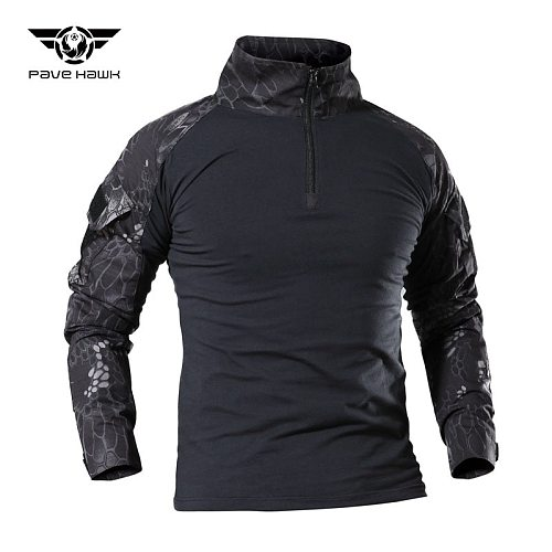 Men Outdoor Military Tactical Camo Frog Shirts Wear Resistant Scratchproof Breathable T-shirt Climbing Combat Hunting Army Shirt