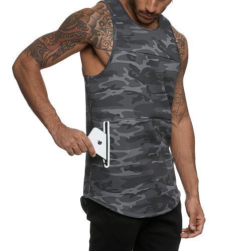 Running Vest Men Camouflage Sport Top Men GYM Fitness Tank Top Quick dry Training Clothing Workout Running Tops Male