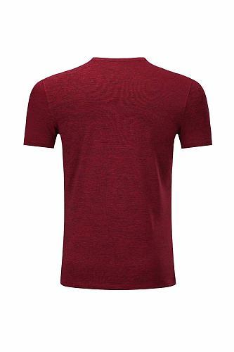 1809 Bordeaux red training t-shirt