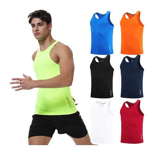 Running Vest Men Quick Dry Training Tight Tank Top Prints Fitness Compression Gym Sleeveless Man Sport Undershirt