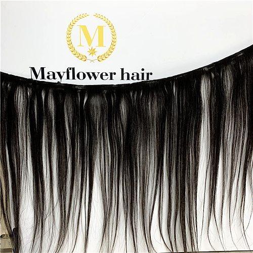 MFH Beauty 100% Unprocessed Malaysian straight virgin hair 1/2/3/4 bundles 10-30  mixed length Natural color Free shipping