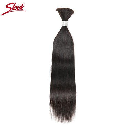 Sleek Human Braiding Hair Bulk Remy Brazilian Straight Hair Bulk No weft Hair Bundles For Braiding Free Shipping 10 To 30 Inch