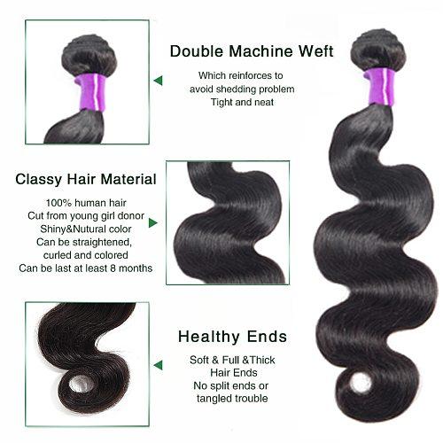 Liddy Body Wave Hair Bundles Brazilian Hair Weave Bundles Human Hair Extensions Natural Color Non-remy Hair Weave