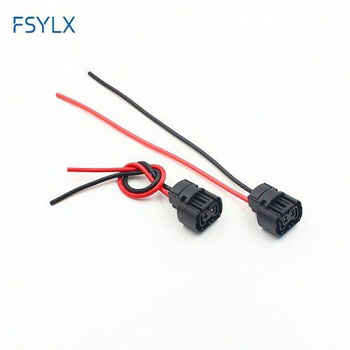 FSYLX 2pcs h16 5202 Fog headLight Holder Plug Car H16/5202/2504/PSX24W Bulbs female Connector adapters Wiring Harness socket