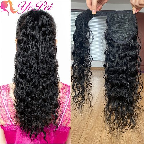 Wrap Around Ponytail Human Hair Brazilian Magic Paste Pony Tail Extensions Natural Wave Remy Hairpieces For Women Remy Hair