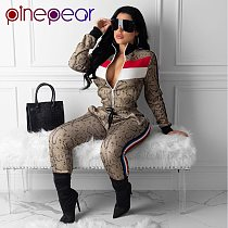 PinePear Snake Print Women Sportswear Striped Long Sleeve Gym Sport Clothing Winter Tracksuit Yoga Set Fitness Suit Wholesale