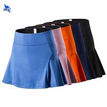 Anti Glare Stretch Shorts Liner Sport Tennis Skirt Quick Dry Loose Women Running Skirts Summer Badminton Skirt with Pocket