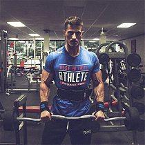 Bodybuilding Fitness Sport Running Man Cotton Short Sleeve T-shirt Gym Training Men Muscle Tight Fitness T Shirt Tees Tops