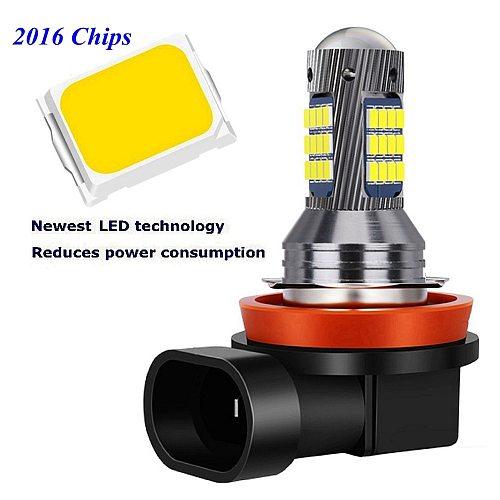 2Pcs H1 H3 H11 H8 9006 HB4 881 880 H27 High Quality 2016 LED Auto Fog Lamp Car Anti Fog Light Bulb Foglamps 6000K White