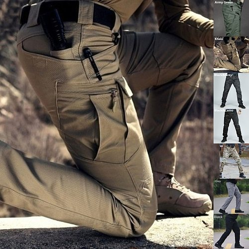 Men Tactical cargo Pants Army Fashion Outdoor Hiking Trekking Casual Sweatpants Camouflage Military Multi pocket Trousers S-3XL