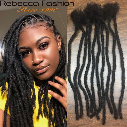 Rebecca Dreadlock Pure Handmade Crochet Braiding Dreadlocks Hair Extension Hip Hop Pure Color Human Hair Extension Locs