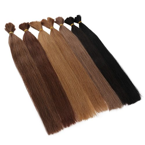 Russia Remy silky Straight Bulk Human Hair For Braiding Bundles 100g No Wefts 18  to 26inch Bulk Human Hair