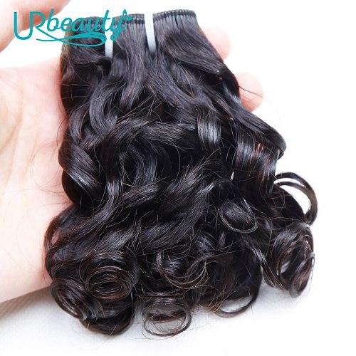 25g/pc Brazilian Wavy Bundles 100% Human Hair 8 Bundles Wavy Human Hair Weave Bundles Natural color UR Beauty Remy Hair