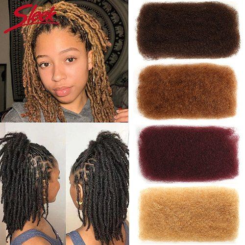 Sleek Mongolian Remy Hair Afro kinky Curly Bulk Human Hair For Braiding 1 Bundle 50g/pc Natural Color Braids Hair No Weft