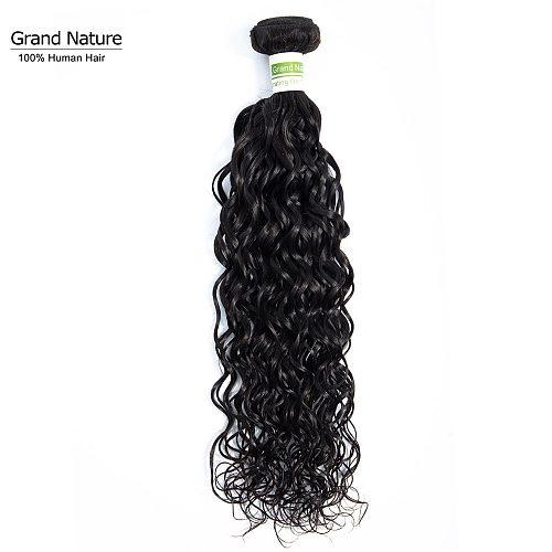 Grand Nature 100% Brazilian Virgin Hair one bundle water wave 100% pineapple Wave human hair weaves can buy 3 or 4pcs