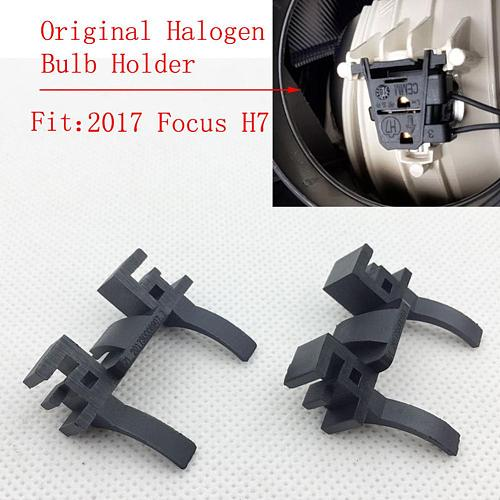 2PCS Car H7 LED Headlight Bulb Holder Base Adapter For Ford Focus Low Beam Headlamp Mount For Land Rover Discovery FIAT 500