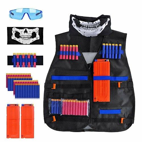 Kids Tactical Vest Outdoor Game Kids Tactical Vest Suit Kit Set Holder Kit For Nerf N-Strike Elite Series Hutting Accessories