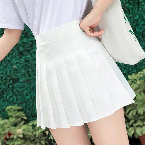 Girl Pleated Skirt With Inner Shorts High Waist Skort Short Dresses Uniform Fashion For School Student Team Sport Badminton Yoga