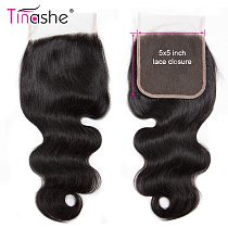 Tinashe Hair 5x5 6x6 HD Transparent Lace Closure Remy Human Hair Free/Middle/Three Part Brazilian Body Wave Hair HD Lace Closure