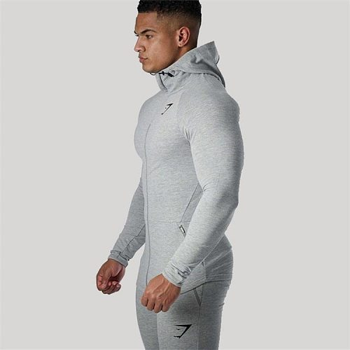 Gym Fitness Men's Muscle Sports Jacket Running Compression Jogging Training Fashion Breathable Slim Breathable Workout Sweater