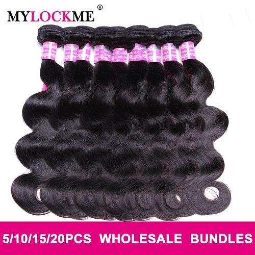 Body Wave Bundles Hair Wholesale Bundles Deals Brazilian Hair 100% Human Hair Remy Wave Bundles Natural Color Hair MYLOCKME