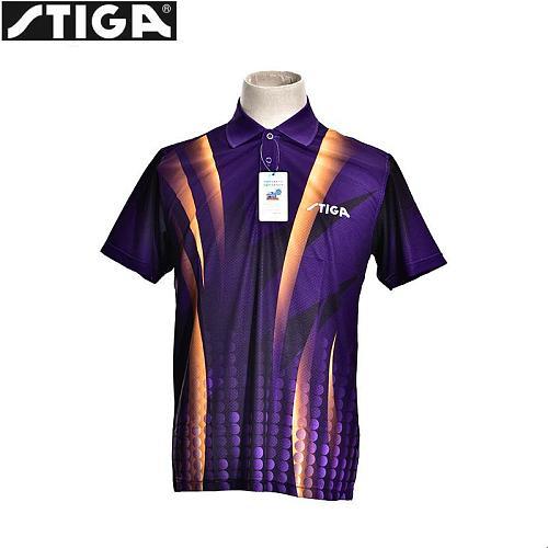 STIGA  Table Tennis Clothes sport Shirt  Badminton Clothing short sleeve  Uniforms for men  Tenis Masculino