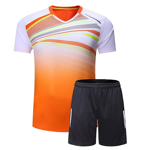 New men/women badminton shirt suits,fast drying breathable table tennis Jersey T-shirt,training fitness competition clothing A39