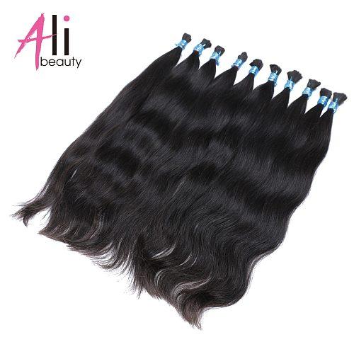 Human Braiding Hair Bulk No Weft Extensions 100g 100% Brazilian Remy Human Hair Bulk Bundles by Ali-beauty