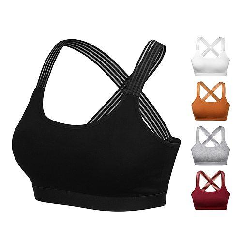 Cross Back Yoga Bra Women, Padded Push up Sports Bras, Shockproof Breathable Sport Bra Top, Gym Fitness Workout Sport Bra