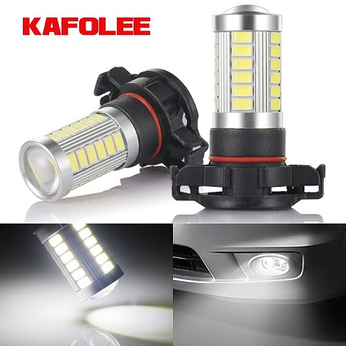 GZKAFOLEE 5201 5202 LED Fog Light Bulbs Xtreme Super Bright 12V LED PS19W 12085 PS24W Replacement 600LM 6000K White 3000K Amber