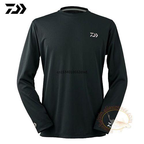 2021 Daiwa Fishing Clothing Long Sleeve XS-5XL Fishing Shirts Summer Quick-Drying Breathable Anti-UV Sun Protection T Shirt