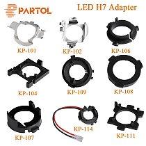 Partol H7 LED Adapter H7 Bulb Holder Socket Retaining Clip Base for Kia BMW AUDI A3 A4 VW Golf NISSAN Mercedes-Ben Hyunda Ford