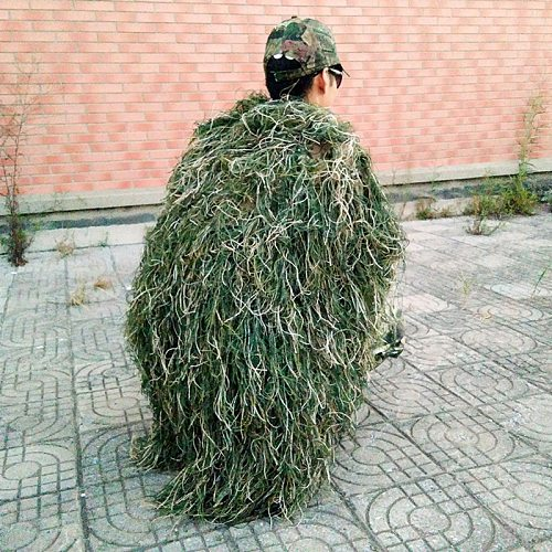 Men Ghillie Blankets/Cover Camouflage Ghillie Suit Hat Handmade Knitting 80x90cm Hunting Cloak Camouflage Hunting Clothes Cover