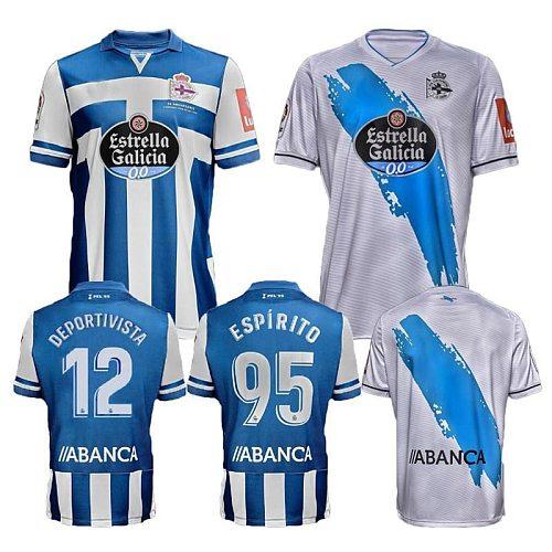 2020/21 Deportivo La Coruna Soccer Jersey 2021 Coruña #7 BORJA VALLE.A SANTOS Shirt Mens #10 AKETXE MOLLEJO Football Uniform
