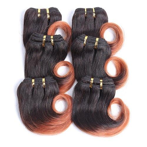 UR Beauty Hair 30g/pcs Body Wave Bundles Medium Ratio 8  Brazilian Remy Hair T1B/30 Color 100% Human Hair Bundles