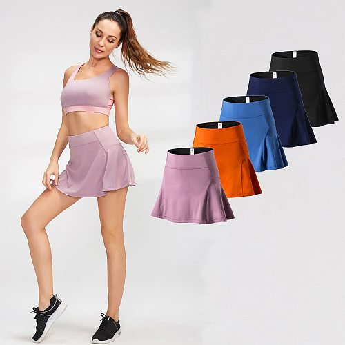 Women Skirts with Pockets High Waist Shorts Skirt Underpants for Badminton Tennis Compressed Sportswear Uniform Yoga Golf Wear