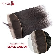 Brazilian Straight Human Hair Lace Frontal Closure 13x4 Swiss Lace 100% Human Remy Hair Natural Hairline 4X4 Lace Closure