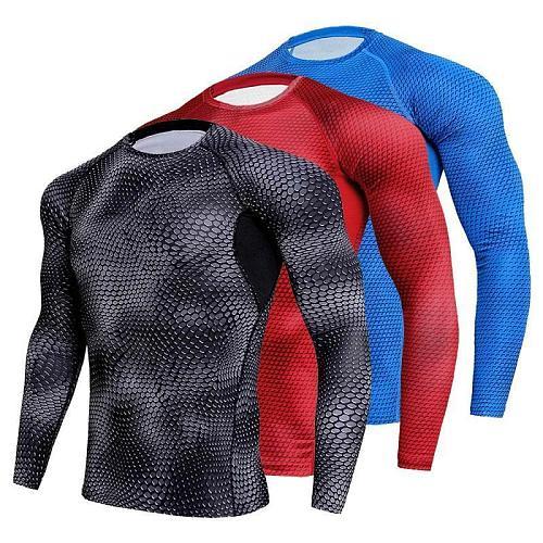 Compression Shirt Men Gym Running Shirt Quick Dry Breathable Fitness Sport Shirt Sportswear Training Sport Tight Rashguard Male
