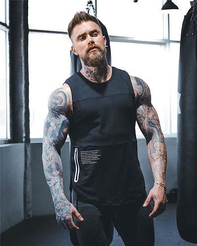 2020 Men bodybuilding gyms Tank Tops Workout Fitness quick-drying Sleeveless shirt men Clothes Sports Male Summer Running Vest