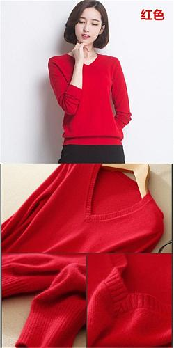 Women's Sweater Hot Sale High Quality Wool Fabric Newest V Neck Hiking Sweaters For Women SWV03
