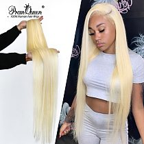 Promqueen 613 Bundle Brazilian Human Hair Bundles Weave 9A Virgin Hair 30 32 38 40 Inch Long Hair Bundles Straight Blonde Bundle