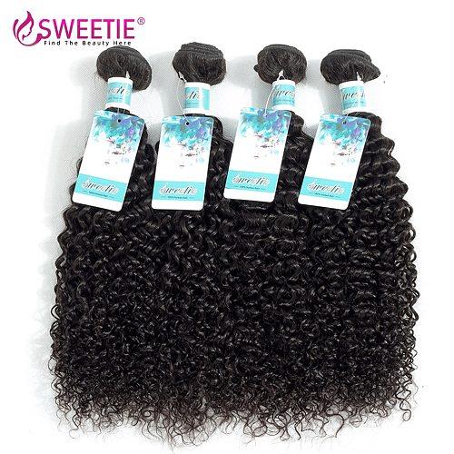 Sweetie Indian Hair Afro Kinky Curly Hair Extensions 100% Human Hair Weave 30inch Kinky Curly Virgin Hair 3 Or 4 Bundles Deal