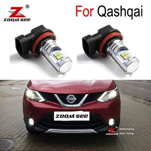 2pcs Premium Canbus Error Free White Auto LED fog lamp front fog light bulb for Nissan Qashqai J10 J11 (2007-2020)