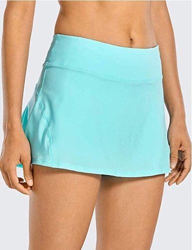 Women Tennis Skorts Sport Athletic Yoga Shorts Skirt Solid Color Anti Exposure Fitness High Waist Shorts Female Sportswear