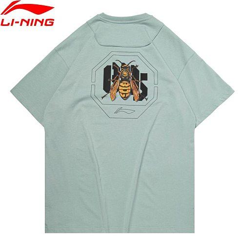 Li-Ning Men BADFIVE Basketball Series T-Shirt Loose Cotton Breathable LiNing li ning Sports Graphic Tees Tops AHSQ307