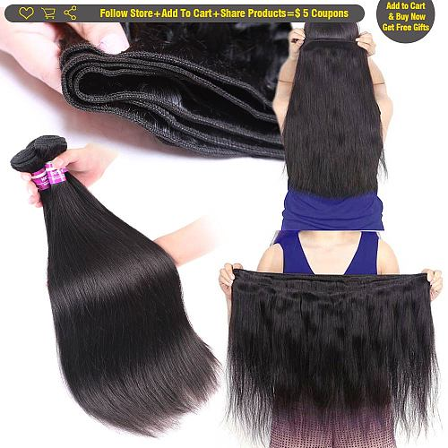 Human Hair Bundles Straight Hair Bundles Brazilian Hair Weave Bundles Remy Human Hair Body Straight Bundles Human Hair Bundle