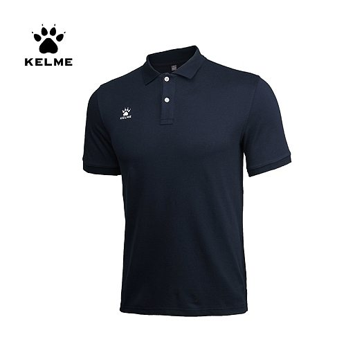 KELME Men's Training Polo T-Shirt  Summer Running Cotton Shirts Casual Short Sleeve Tops High Quantity Polo For Men  K15F117